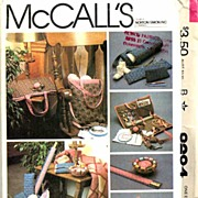 McCall's #8294 Needlecrafter's Accessories Package~From Tote to Pin Cushion!  HTF UNCUT, 1982