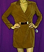 1980s 'PARIS' Buckle Ultrasuede Wrap Mini Skort!~New Old Stock With Tags~Creations JOSEPH RIBKOFF~Size 10/Bust 36&quot;