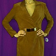 1980s 'PARIS' Buckle Ultrasuede Wrap Mini Skort!~New Old Stock With Tags~Creations JOSEPH ...