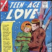 TEEN-AGE LOVE Romance Comic Vol. 2, #44~'A Very Merry Christmas'~October/November 1965~Charlto