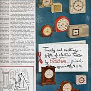 Fantastic December 1947 TELECHRON Electric Clocks Ad~11 Different Styles! LHJournal Christmas
