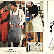 Vogue #1450 Vintage Accessories Pattern~Full Aprons, Potholders, Placemats! Size L~UNCUT, ...