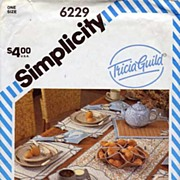 Simplicity #6229 Tricia Guild Table Accessories Pattern~UNCUT, 1983