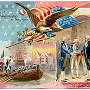 1913 Raphael TUCK 'George Washington's Birthday' Series 124 OILETTE Postcard~Two Historical ..