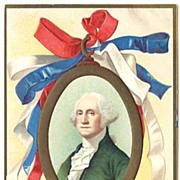 Stirring Patriotic Unsigned Ellen Clapsaddle GEORGE WASHINGTON Birthday Postcard~EXC, 1907 Int