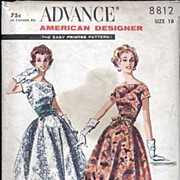 Advance #8812 Large Size SUZY PERETTE Original Iconic Bubble Skirt & Cummerbund Waist Cocktail