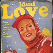 HTF IDEAL LOVE Pulp Romance Stories Magazine~Mort Kusnet Cover Art! May, 1947