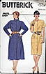 Butterick #6744 Fast & Easy Blouson Cowl Neck Dress~Big Pockets! Sizes 12-16~Complete, 1978