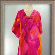 Eye-Popping 1960s Mod Butterfly Sleeve ALOHA Dress~Sears Hawaiian Fashions, Size XS