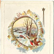 Two Beautiful 1911-1913 Merry Christmas Red-Breasted BIRDS Postcards~Midland Publishing