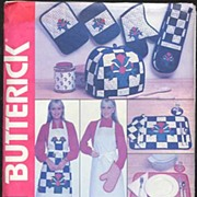Butterick #215 Charming Kitchen Accessories Pattern~Jones New York At Home~Complete, 1980