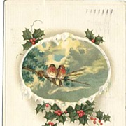 Three Charming Singing BIRDS Christmas Postcards, Circa 1912~G to VG+