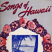 Charming 'Songs of Hawaii' Music Book~1950, Miller Music Corp.