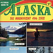 'Pictorial Guide to ALASKA~The Magnificent 49th State' Book~Plastichrome World of Color Series