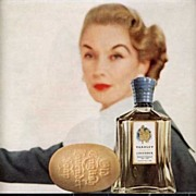 Elegant Yardley English Lavender Perfume & Soap Ad~McCall's Magazine, 1957