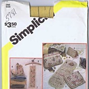 Simplicity #5781 Vanity Travel & Closet Accessories Pattern~9 Items! UNCUT, FF 1982