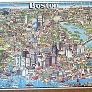 SEALED  'City of Boston' Triple Thick 504 Pc. Jigsaw Puzzle~Don Scott, Buffalo Games 1988