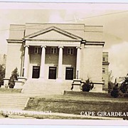 1941 RPPC 'First Baptist Church Cape Girardeau, MO.' Postcard