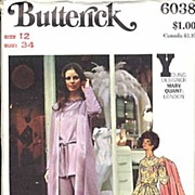 "Butterick #6038 Early MARY QUANT Mod Wardrobe~Size 12/Bust 34""~UNCUT FF"