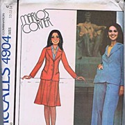 McCall's #4904 Marlo's Corner MARLO THOMAS Jacket Skirt & Pants~Sizes 10-14~UNCUT FF, 1976