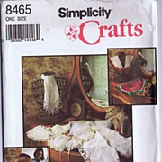 Simplicity #8465 Beautiful Lace & Embroidered COLLARS Pattern~Wax Transfers~UNCUT, 1990