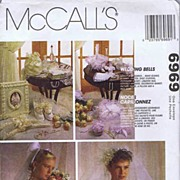 McCall's #6969 Wedding Accessories BRIDAL Package~Garter To Gloves! UNCUT FF