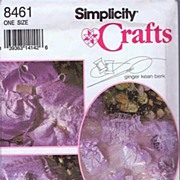 Simplicity #8461 Pretty BRIDAL Accessories Pattern~Ring Pillow To Guest Book~UNCUT FF