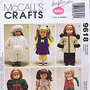 "McCall's #9618 Gotz Dolls 18"" Doll Wardrobe Pattern~American Girl To Precious Day Girls!"