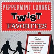 1962 PEPPERMINT LOUNGE 'Twist Favorites' Music Book~John Lane, Robbins Music Corporation