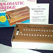 1969 ROLOMATIC BRIDGE II Machine Game-Charles H.Goren~Milton Bradley-Complete, EXC+