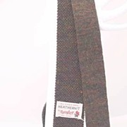 "'50s Hipster TEEN 46"" Long ROOSTER Woven Wool Square Bottom Knit Tie"
