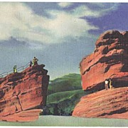 Beautiful 1947 Linen PIKES PEAK Colorado Mountains View Postcard~C.T. Art Colortone Curt Teich