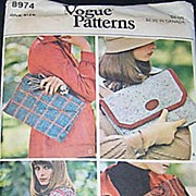 Vogue #8974 Make It Your Own Envelope Clutch & Shoulder Handbags Purses~UNCUT FF 1972