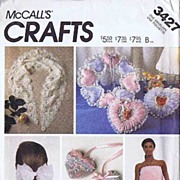 McCall's #3427 Hard To Find Lace Delights Accessories Pattern~BATH WRAP! UNCUT FF