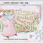 "1906 ""Good Enough for Him"" Postcard #227 Wolf Undivided Back"