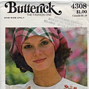 Butterick #4308 Historical AMERICANA Embroidery Transfer Pattern-UNCUT, Unused 1976