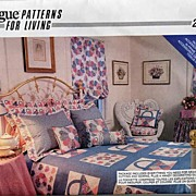Vintage Vogue #2080 'A Cottage In The Country' Duvet Cover, Dust Ruffle, Bed Pillows & Balloon
