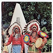 Vintage Natural Color CHEROKEE INDIANS Chrome Photo Postcard-Dexter Press NM, Unused