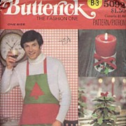 Butterick #5092 Christmas Textiles & Decor Pattern W/Transfer-UNCUT, 1969