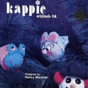 Kappie Originals Christmas Ornaments Pattern-Mr. Frog, Mr. Mouse, and Snowman! #QP221 Sealed,