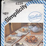 Simplicity #6229 Tricia Guild Designer Table Accessories Pattern-UNCUT, 1983