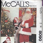 McCall's #8090 SANTA Claus Costume Pattern-Bag & Doll Too! Size L (42-44)-Complete, 1982