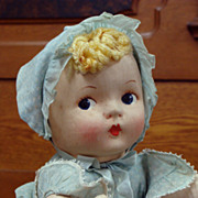 Effanbee Cloth Pat-O-Pat Little Girl Doll