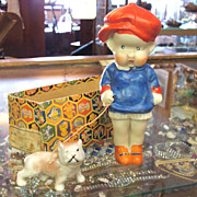 All Bisque Comic Character Doll with Dog
