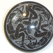 Vintage Slate Celtic Brooch
