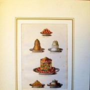 Antique Chromolithograph of  Food