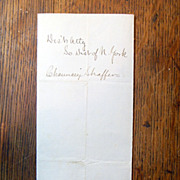 SOLD Antique Letter to Abraham Lincoln from John Slingerland