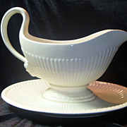 SALE Vintage Wedgwood Creamware Gravy Boat