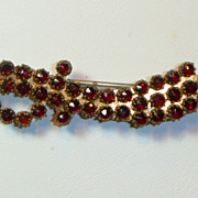 Antique Victorian Garnet Sword Brooch