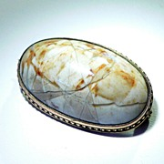 SOLD Vintage Picture Jasper Brooch